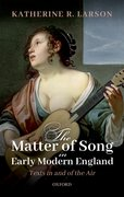 Cover for The Matter of Song in Early Modern England