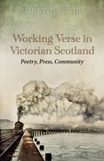 Cover for Working Verse in Victorian Scotland