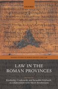 Cover for Law in the Roman Provinces