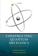 Cover for Constructing Quantum Mechanics