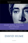 Cover for David Hume: Essays, Moral, Political, and Literary
