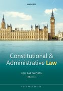 Cover for Constitutional and Administrative Law