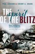 Cover for The Spirit of the Blitz - 9780198848509