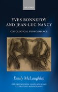 Cover for Yves Bonnefoy and Jean-Luc Nancy