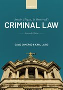 Cover for Smith, Hogan, and Ormerod's Criminal Law - 9780198849704
