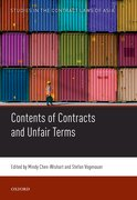 Cover for Contents of Contracts and Unfair Terms