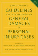 Cover for Guidelines for the Assessment of General Damages in Personal Injury Cases