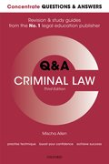 Cover for Concentrate Questions and Answers Criminal Law