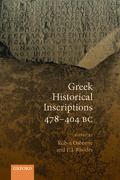 Cover for Greek Historical Inscriptions 478-404 BC