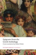 Cover for Epigrams from the Greek Anthology - 9780198854654