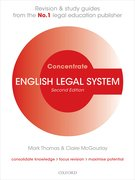 Cover for English Legal System Concentrate
