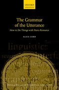 Cover for The Grammar of the Utterance