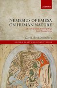 Cover for Nemesius of Emesa on Human Nature