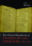 Cover for The Oxford Handbook of English Law and Literature, 1500-1700