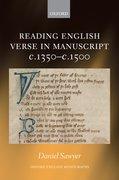 Cover for Reading English Verse in Manuscript c.1350-c.1500