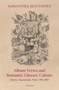 Cover for Album Verses and Romantic Literary Culture