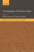 Cover for The Epigraphy of Ptolemaic Egypt