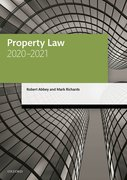 Cover for Property Law 2020-2021
