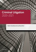 Cover for Criminal Litigation 2020-2021