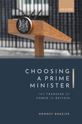 Cover for Choosing a Prime Minister