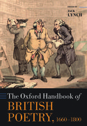 Cover for The Oxford Handbook of British Poetry, 1660-1800