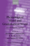 Cover for Phonological Word and Grammatical Word