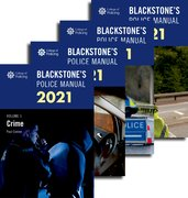 Cover for Blackstone's Police Manuals 2021: Four Volume Set - 9780198866473
