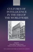Cover for Cultures of Intelligence in the Era of the World Wars