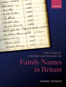 Cover for The Concise Oxford Dictionary of Family Names in Britain