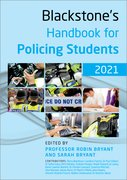 Cover for Blackstone's Handbook for Policing Students 2021 - 9780198870357