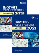 Cover for Blackstones Police Investigators' Manual and Workbook 2021 - 9780198870951