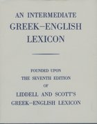 Cover for An Intermediate Greek-English Lexicon