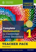 Cover for Complete Mathematics for Cambridge Secondary 1 Teacher Pack 1