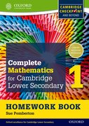 Cover for Complete Mathematics for Cambridge Secondary 1 Homework Book 1 (Pack of 15)