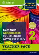 Cover for Complete Mathematics for Cambridge Secondary 1 Teacher Pack 2