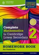 Cover for Complete Mathematics for Cambridge Secondary 1 Homework Book 2 (Pack of 15)