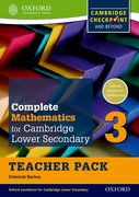 Cover for Complete Mathematics for Cambridge Secondary 1 Teacher Pack 3