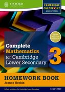 Cover for Complete Mathematics for Cambridge Secondary 1 Homework Book 3 (Pack of 15)