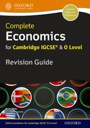 Cover for Economics for Cambridge IGCSERG and O Level Revision Guide