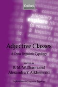 Cover for Adjective Classes