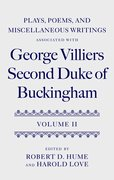 Cover for Plays, Poems, and Miscellaneous Writings associated with George Villiers, Second Duke of Buckingham