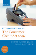 Blackstone's Guide to the Consumer Credit Act 2006