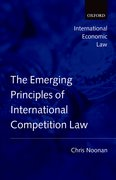 Cover for Emerging Principles of International Competition Law