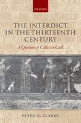 Cover for The Interdict in the Thirteenth Century