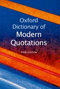 Cover for Oxford Dictionary of Modern Quotations