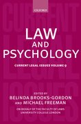 Law and Psychology Current Legal Issues Volume 9