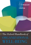 Cover for The Oxford Handbook of Organizational Well-Being
