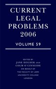 Cover for Current Legal Problems 2006