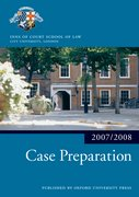 Cover for Case Preparation 2007-2008