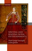 Cover for Writing and Reading Royal Entertainments